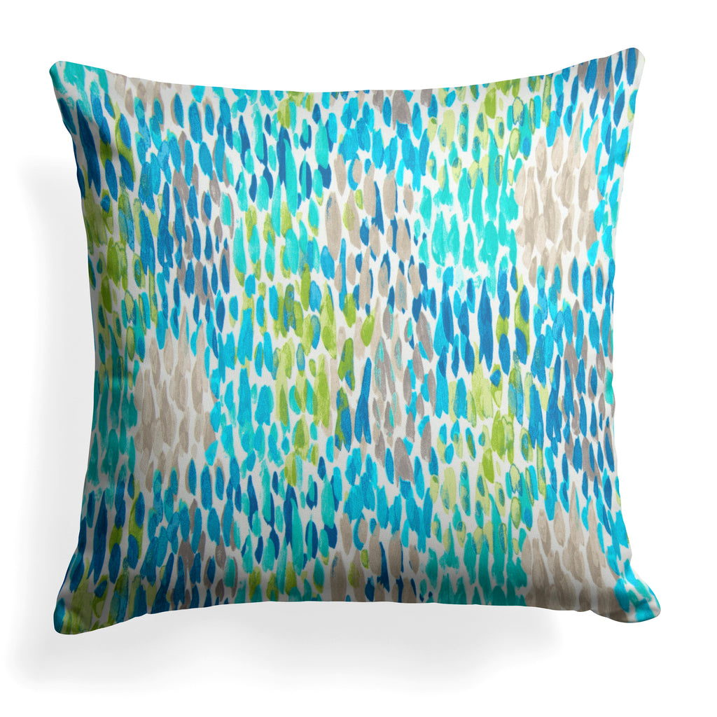 "Peacock Feathers - Blue Square Pillow 25"" x 25"" - Shop Baby Slings & wraps, Baby Bedding & Home Decor !"