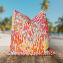 "Load image into Gallery viewer, Peacock Feather - Orange Square Pillow 25"" x 25"" - Shop Baby Slings & wraps, Baby Bedding & Home Decor !"