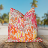 "Peacock Feather - Orange Square Pillow 25"" x 25"" - Shop Baby Slings & wraps, Baby Bedding & Home Decor !"