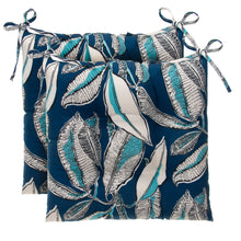 "Load image into Gallery viewer, Panama - Navy Tufted Seat Cushion 2 Pk (Tftd-ties) 19""x18.5""x5"" - Shop Baby Slings & wraps, Baby Bedding & Home Decor !"