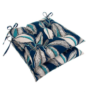 "Panama - Navy Tufted Seat Cushion 2 Pk (Tftd-ties) 19""x18.5""x5"" - Shop Baby Slings & wraps, Baby Bedding & Home Decor !"