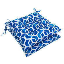 "Load image into Gallery viewer, Cubed - Blue Tufted Seat Cushion 2 Pk (Tftd-ties) 19""x18.5""x5"" - Shop Baby Slings & wraps, Baby Bedding & Home Decor !"