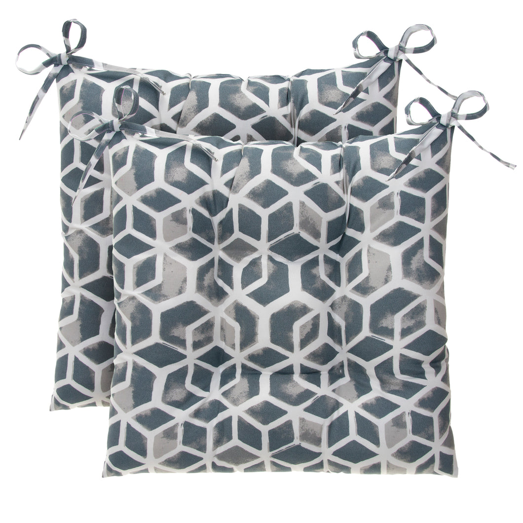 Cubed - Grey Tufted Seat Cushion 2 Pk (Tftd-ties) 20