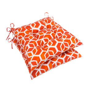 "Cubed - Orange Tufted Seat Cushion 2 Pk (Tftd-ties) 19""x18.5""x5"" - Shop Baby Slings & wraps, Baby Bedding & Home Decor !"