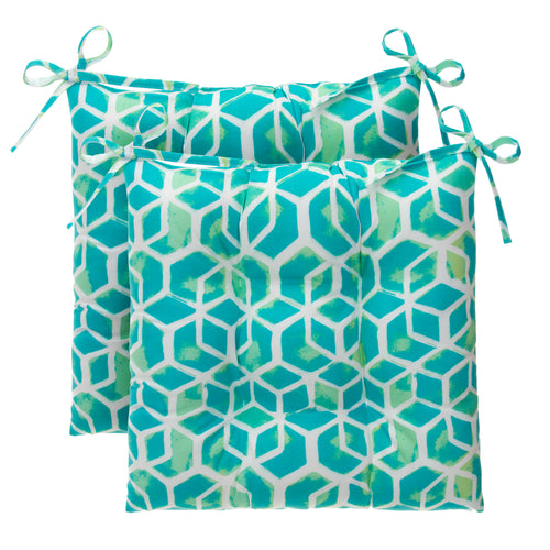 Cubed - Teal Tufted Seat Cushion 2 Pk (Tftd-ties) 19