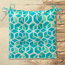 "Load image into Gallery viewer, Cubed - Teal Tufted Seat Cushion 2 Pk (Tftd-ties) 20""x20""x5"" - Shop Baby Slings & wraps, Baby Bedding & Home Decor !"