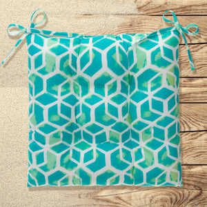 "Cubed - Teal Tufted Seat Cushion 2 Pk (Tftd-ties) 20""x20""x5"" - Shop Baby Slings & wraps, Baby Bedding & Home Decor !"