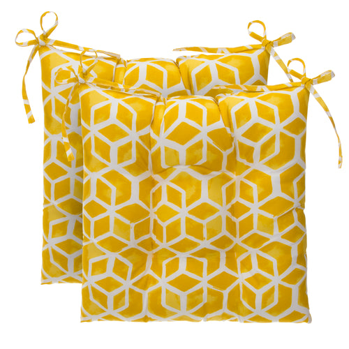 Cubed - Yellow Tufted Seat Cushion 2 Pk (Tftd-ties) 19