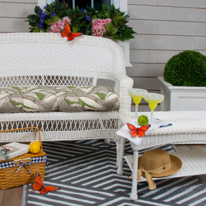 "Panama - Tan Wicker Loveseat Cushion 44""x19""x5"" - Shop Baby Slings & wraps, Baby Bedding & Home Decor !"