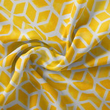"Load image into Gallery viewer, Cubed - Yellow Wicker Loveseat Cushion 44""x19""x5"" - Shop Baby Slings & wraps, Baby Bedding & Home Decor !"