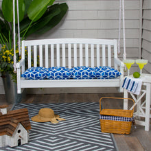 "Load image into Gallery viewer, Cubed - Blue Tufted Loveseat Cushion 44""x18.5""x6"" - Shop Baby Slings & wraps, Baby Bedding & Home Decor !"