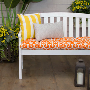"Cubed - Orange Tufted Loveseat Cushion 44""x18.5""x6"" - Shop Baby Slings & wraps, Baby Bedding & Home Decor !"