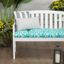"Load image into Gallery viewer, Cubed - Teal Tufted Loveseat Cushion 44""x18.5""x6"" - Shop Baby Slings & wraps, Baby Bedding & Home Decor !"
