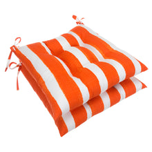 "Load image into Gallery viewer, Lateral Marmalade (Cabana Orange) Tufted Seat Cushion 2 Pk (Tftd-ties) 19""x18.5""x5"" - Shop Baby Slings & wraps, Baby Bedding & Home Decor !"