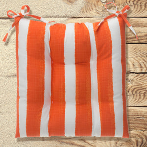 "Lateral Marmalade (Cabana Orange) Tufted Seat Cushion 2 Pk (Tftd-ties) 19""x18.5""x5"" - Shop Baby Slings & wraps, Baby Bedding & Home Decor !"