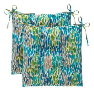 "Peacock Feathers - Blue Tufted Seat Cushion 2 Pk (Tftd-ties) 20""x20""x5"" - Shop Baby Slings & wraps, Baby Bedding & Home Decor !"