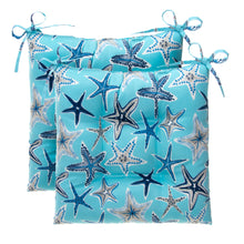 "Load image into Gallery viewer, Starstruck - Blue Tufted Seat Cushion 2 Pk (Tftd-ties) 19""x18.5""x5"" - Shop Baby Slings & wraps, Baby Bedding & Home Decor !"