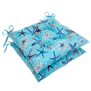 "Starstruck - Blue Tufted Seat Cushion 2 Pk (Tftd-ties) 19""x18.5""x5"" - Shop Baby Slings & wraps, Baby Bedding & Home Decor !"