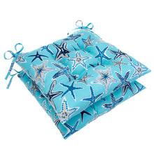"Load image into Gallery viewer, Starstruck - Blue Tufted Seat Cushion 2 Pk (Tftd-ties) 20""x20""x5"" - Shop Baby Slings & wraps, Baby Bedding & Home Decor !"