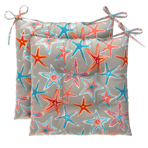Starstruck - Orange Tufted Seat Cushion 2 Pk (Tftd-ties) 20