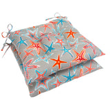 "Starstruck - Orange Tufted Seat Cushion 2 Pk (Tftd-ties) 20""x20""x5"" - Shop Baby Slings & wraps, Baby Bedding & Home Decor !"
