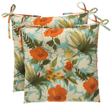 "Load image into Gallery viewer, Havana Tufted Seat Cushion 2 Pk (Tftd-ties) 19""x18.5""x5"" - Shop Baby Slings & wraps, Baby Bedding & Home Decor !"