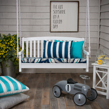 "Load image into Gallery viewer, Panama - Navy Bench/Porch Swing Cushion 45""x18""x3"" - Shop Baby Slings & wraps, Baby Bedding & Home Decor !"