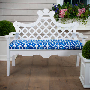 "Cubed - Blue Bench/Porch Swing Cushion 45""x18""x3"""
