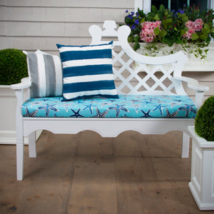 "Starstruck - Blue Bench/Porch Swing Cushion 45""x18""x3"" - Shop Baby Slings & wraps, Baby Bedding & Home Decor !"