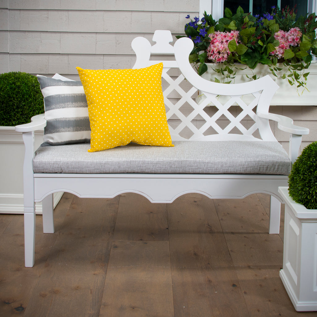 "Portico (Storm) Bench/Porch Swing Cushion 45""x18""x3"" - Shop Baby Slings & wraps, Baby Bedding & Home Decor !"