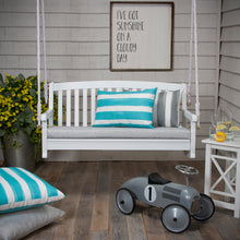 "Load image into Gallery viewer, Portico (Storm) Bench/Porch Swing Cushion 45""x18""x3"" - Shop Baby Slings & wraps, Baby Bedding & Home Decor !"