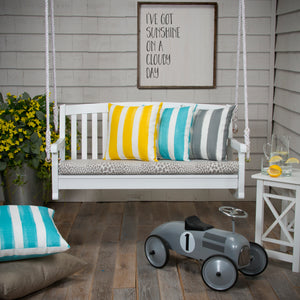 "Don't Be Catty - Grey Bench/Porch Swing Cushion 45""x18""x3"" - Shop Baby Slings & wraps, Baby Bedding & Home Decor !"