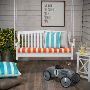 "Lateral Marmalade  Bench/Porch Swing Cushion 45""x18""x3"" - Shop Baby Slings & wraps, Baby Bedding & Home Decor !"