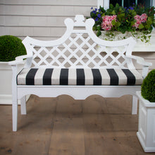 "Load image into Gallery viewer, Tuxedo Stripe  Bench/Porch Swing Cushion 45""x18""x3"" - Shop Baby Slings & wraps, Baby Bedding & Home Decor !"
