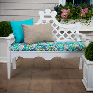 "Peacock Feathers - Blue Bench/Porch Swing Cushion 45""x18""x3"" - Shop Baby Slings & wraps, Baby Bedding & Home Decor !"