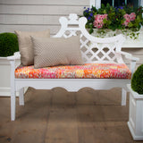 "Peacock Feather - Orange Bench/Porch Swing Cushion 45""x18""x3"" - Shop Baby Slings & wraps, Baby Bedding & Home Decor !"
