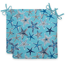 "Load image into Gallery viewer, Starstruck - Blue Seat Cushion Sq 2Pk (Slab) 18.5""x16""x3"" - Shop Baby Slings & wraps, Baby Bedding & Home Decor !"