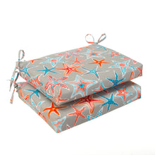 "Load image into Gallery viewer, Starstruck - Orange Seat Cushion Sq 2Pk (Slab) 18.5""x16""x3"" - Shop Baby Slings & wraps, Baby Bedding & Home Decor !"