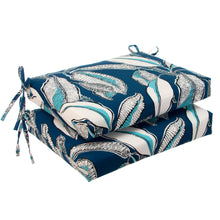"Load image into Gallery viewer, Panama - Navy Seat Cushion Sq 2Pk (Slab) 18.5""x16""x3"" - Shop Baby Slings & wraps, Baby Bedding & Home Decor !"