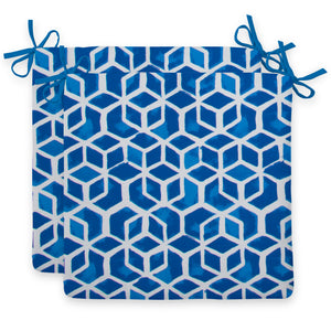 "Cubed - Blue Seat Cushion Sq 2Pk (Slab) 18.5""x16""x3"" - Shop Baby Slings & wraps, Baby Bedding & Home Decor !"