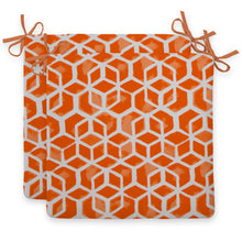"Load image into Gallery viewer, Cubed - Orange Seat Cushion Sq 2Pk (Slab) 20""x20""x3"" - Shop Baby Slings & wraps, Baby Bedding & Home Decor !"