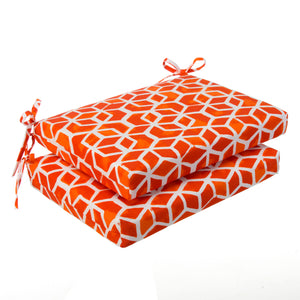 "Cubed - Orange Seat Cushion Sq 2Pk (Slab) 20""x20""x3"" - Shop Baby Slings & wraps, Baby Bedding & Home Decor !"