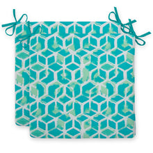 "Load image into Gallery viewer, Cubed - Teal Seat Cushion Sq 2Pk (Slab) 20""x20""x3"" - Shop Baby Slings & wraps, Baby Bedding & Home Decor !"