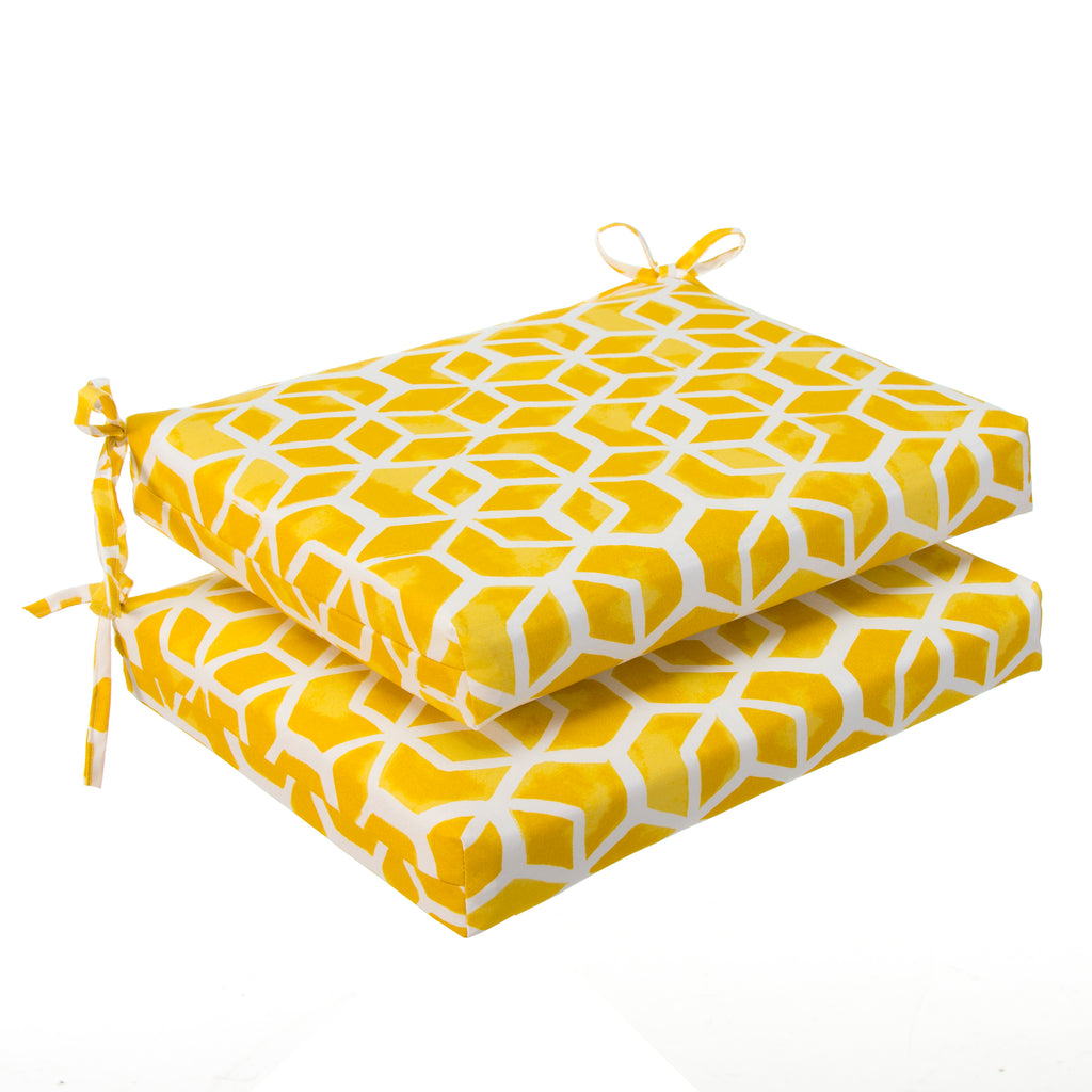 "Cubed - Yellow Seat Cushion Sq 2Pk (Slab) 20""x20""x3"" - Shop Baby Slings & wraps, Baby Bedding & Home Decor !"