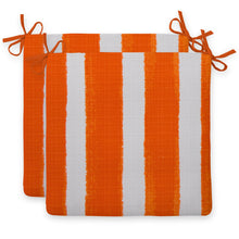 "Load image into Gallery viewer, Lateral Marmalade (Cabana Orange) Seat Cushion Sq 2Pk (Slab) 20""x20""x3"" - Shop Baby Slings & wraps, Baby Bedding & Home Decor !"