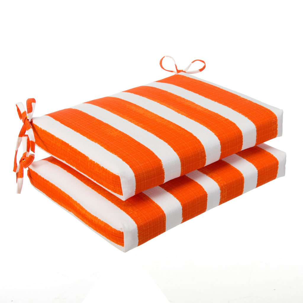 "Lateral Marmalade (Cabana Orange) Seat Cushion Sq 2Pk (Slab) 18.5""x16""x3"" - Shop Baby Slings & wraps, Baby Bedding & Home Decor !"