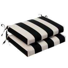 "Load image into Gallery viewer, Tuxedo Stripe (Lux) Seat Cushion Sq 2Pk (Slab) 18.5""x16""x3"" - Shop Baby Slings & wraps, Baby Bedding & Home Decor !"