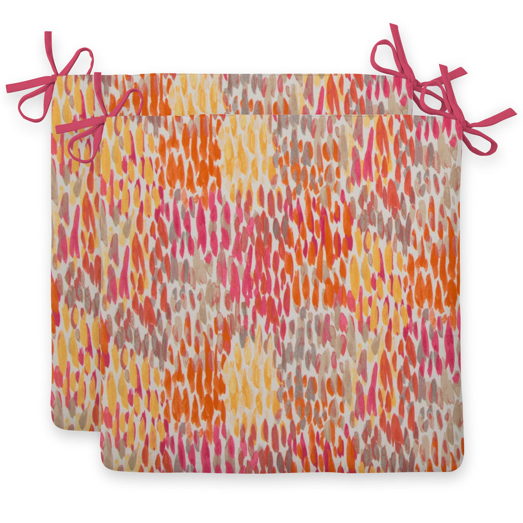 "Peacock Feather - Orange Seat Cushion Sq 2Pk (Slab) 18.5""x16""x3"" - Shop Baby Slings & wraps, Baby Bedding & Home Decor !"