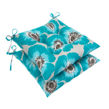 "Load image into Gallery viewer, Laguna Tufted Seat Cushion 2 Pk (Tftd-ties) 20""x20""x5"" - Shop Baby Slings & wraps, Baby Bedding & Home Decor !"