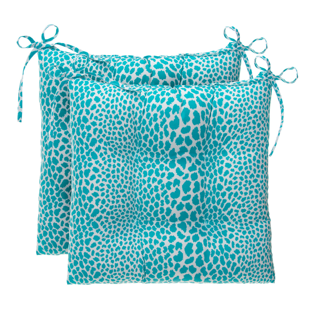Don't Be Catty - Aqua Tufted Seat Cushion 2 Pk (Tftd-ties) 19